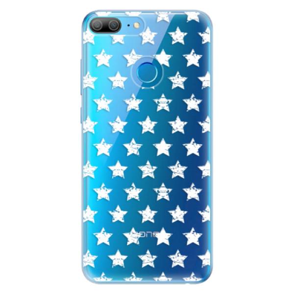 Odolné silikonové pouzdro iSaprio - Stars Pattern - white - Huawei Honor 9 Lite