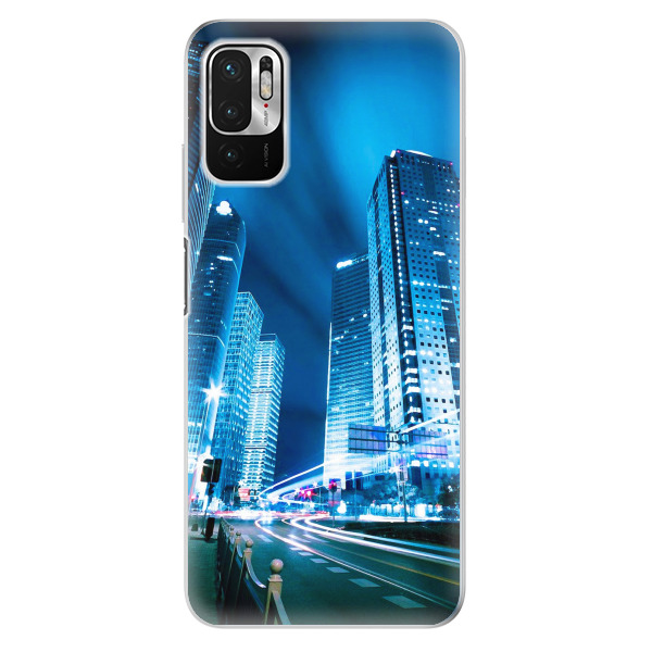 Odolné silikonové pouzdro iSaprio - Night City Blue - Xiaomi Redmi Note 10 5G