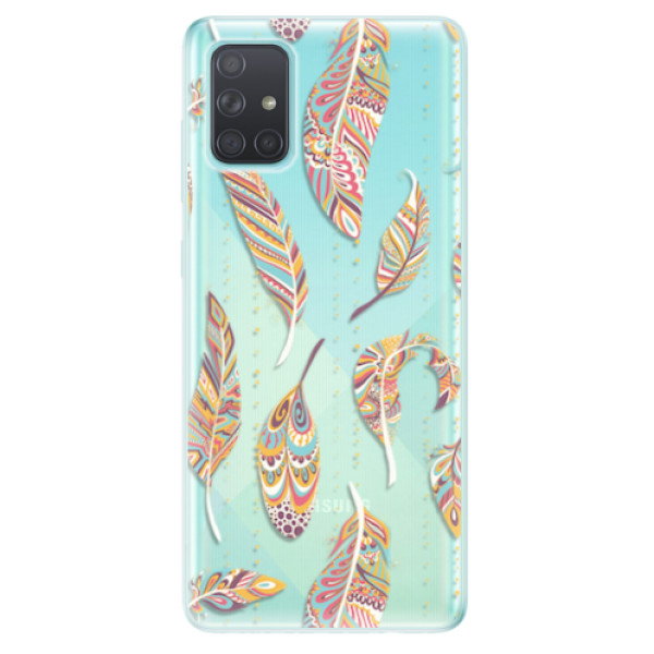 Odolné silikonové pouzdro iSaprio - Feather pattern 02 - Samsung Galaxy A71