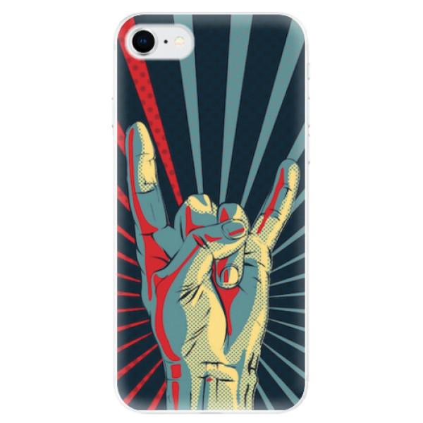 Odolné silikonové pouzdro iSaprio - Rock - iPhone SE 2020