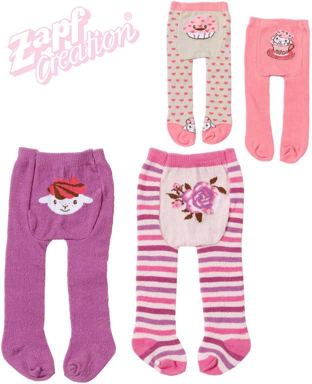 ZAPF BABY ANNABELL Punčocháče pro panenku miminko set 2ks 2 druhy