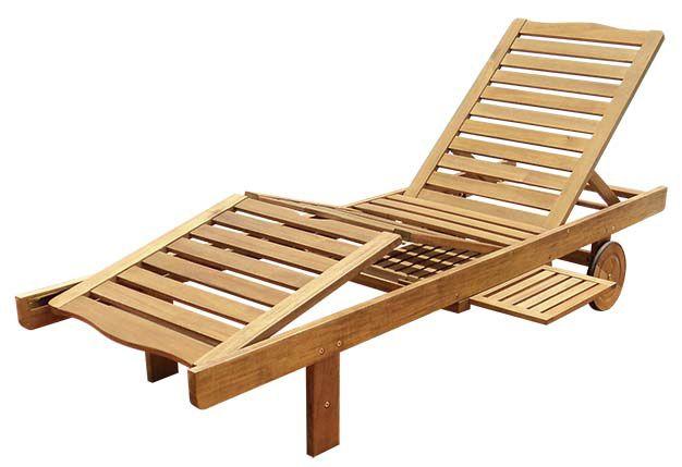 Zahradní dřevěné lehátko LEILA - 30 x 60 x 200 cm