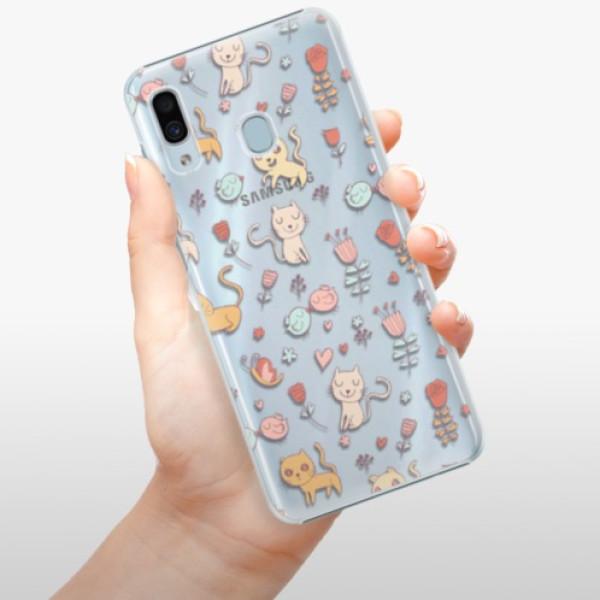 Plastové pouzdro iSaprio - Cat pattern 02 - Samsung Galaxy A20