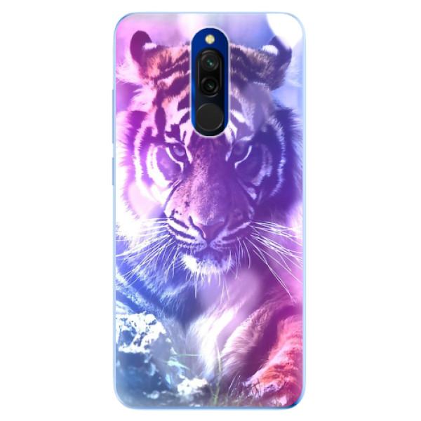 Odolné silikonové pouzdro iSaprio - Purple Tiger - Xiaomi Redmi 8