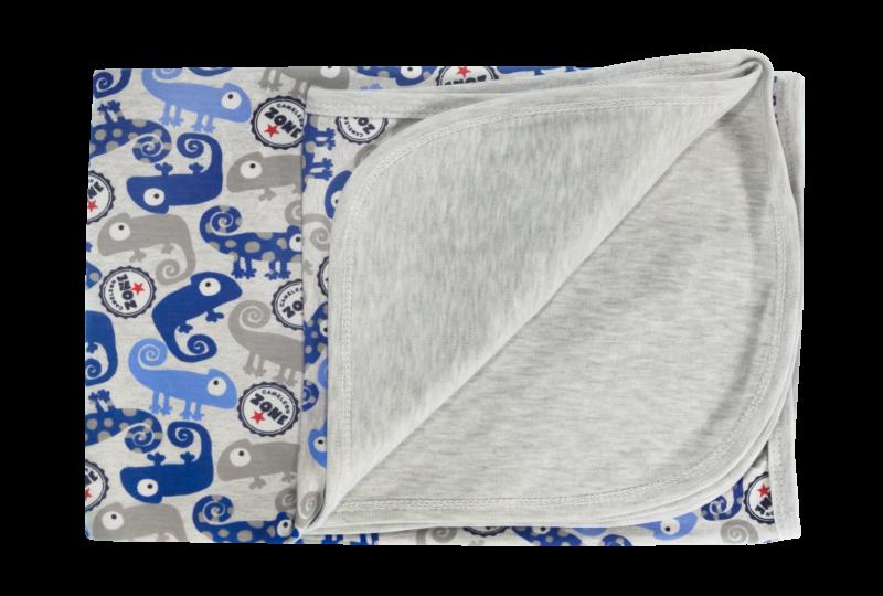 Mamatti Dětská deka, dečka Chameleon, 80x90 - bavlna, modrá