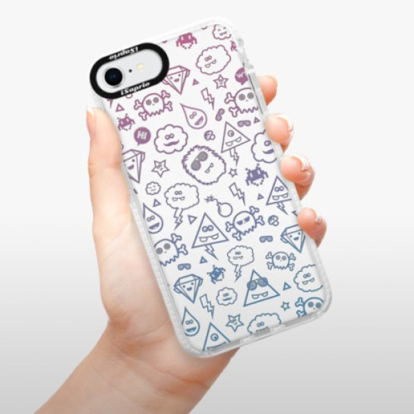 Silikonové pouzdro Bumper iSaprio - Funny Clouds - iPhone SE 2020