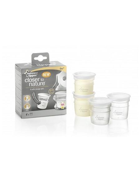 Sada nádobek pro uchovávání mléka Tommee Tippee - 4ks - transparentní