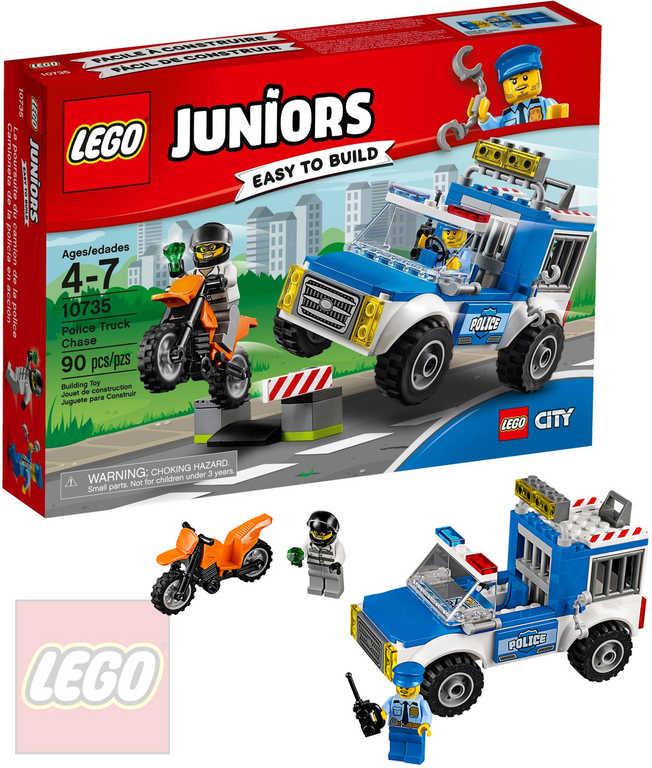 LEGO JUNIORS Honička s policejní dodávkou 10735 STAVEBNICE