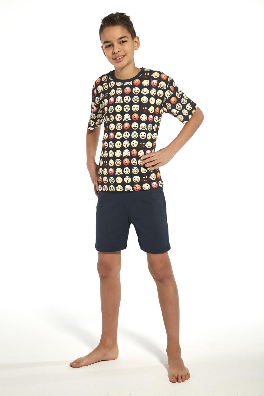 Chlapecké pyžamo 335/77 Young emoticon2 - Tmavě