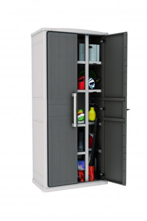 Plastová úložná skříň TALL 178 x 80 x 47 cm