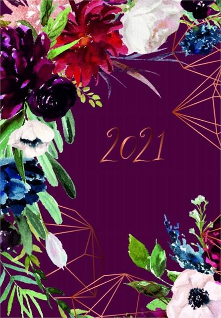 ALBI Denní diář - Bordó květy