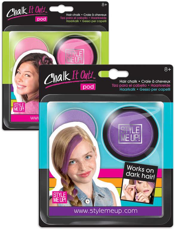 SMU Křídy dětské na vlasy kreativní sada 2 barvy Style Me Up