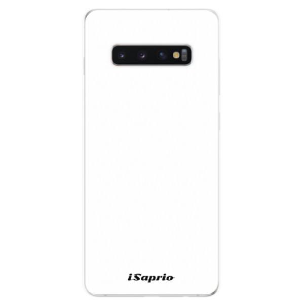 Odolné silikonové pouzdro iSaprio - 4Pure - bílý - Samsung Galaxy S10+
