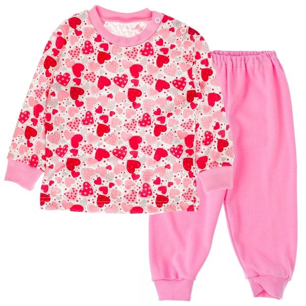 Bavlněné pyžamko Srdíčka