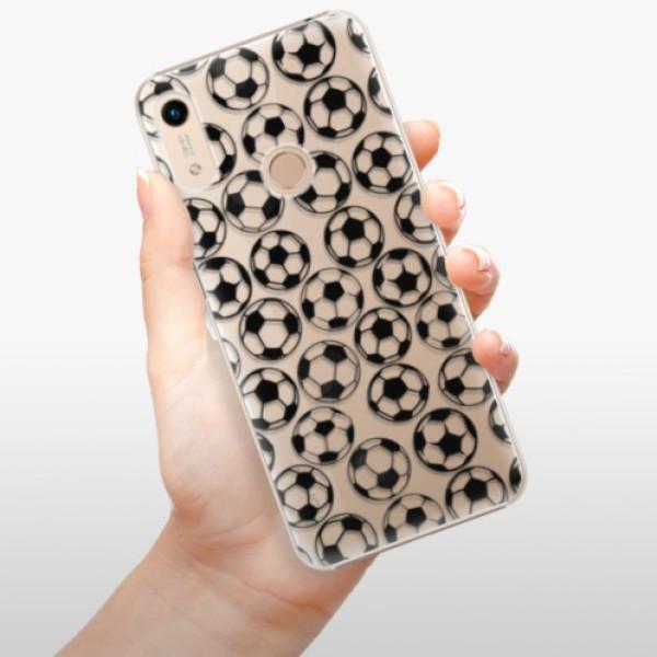 Plastové pouzdro iSaprio - Football pattern - black - Huawei Honor 8A