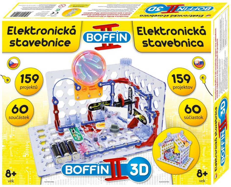 Boffin II. 3D 159 projektů 60 součástek na baterie elektronická STAVEBNICE
