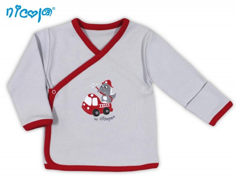 Novorozenecká košilka NICOL HASIČ - zapínání bokem - 56 (1-2m)