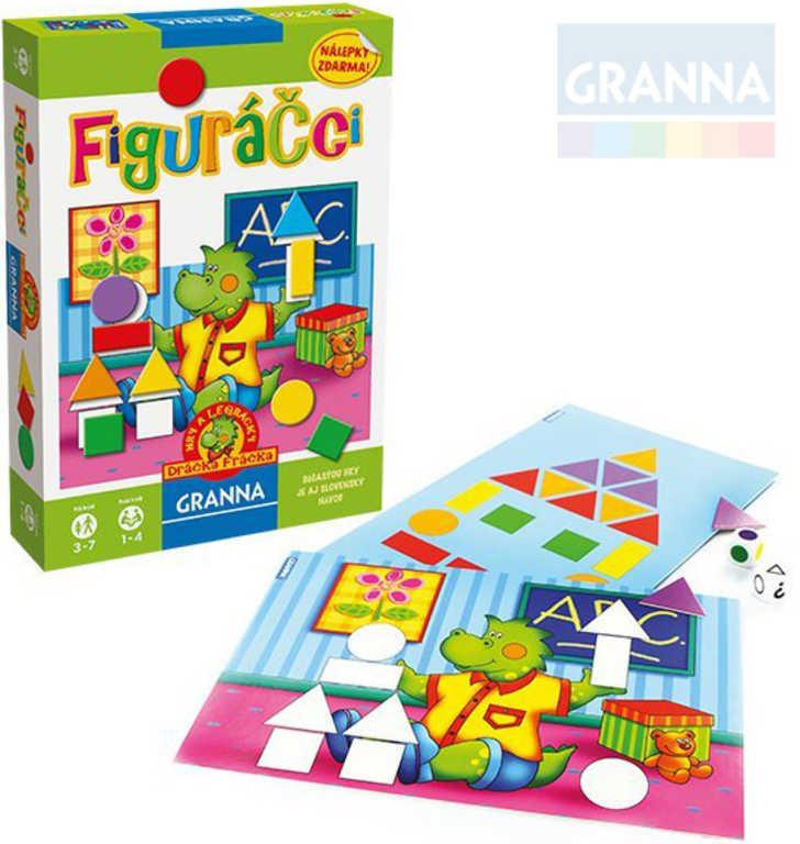 GRANNA Hra Figuráčci poznávání tvarů a barev se samolepkami