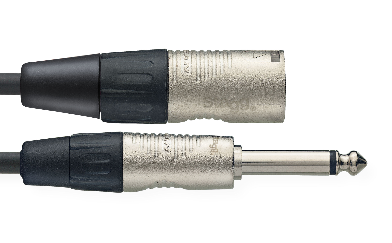 Stagg NAC3PXMR, kabel JACK/ XLR, 3 m