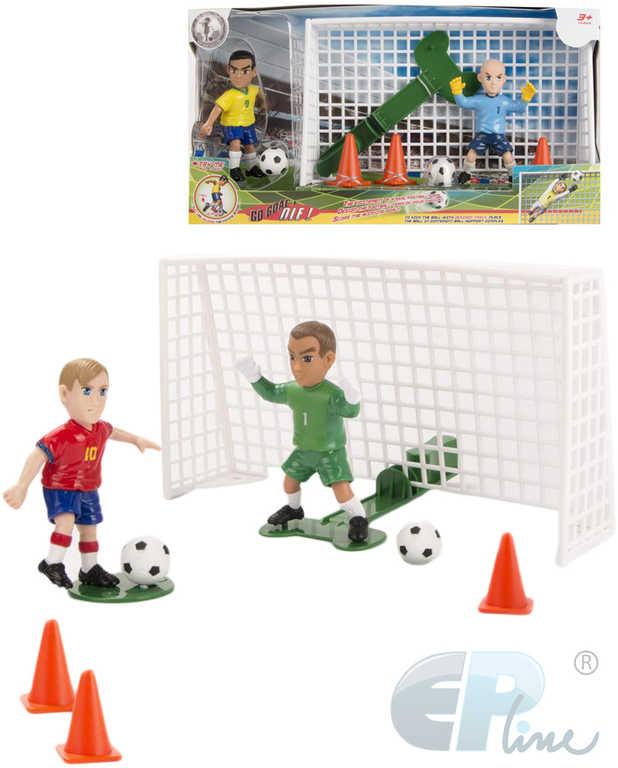 EP Line Shooters set 2 figurky s s bránou + 2 míče s kužely plast 6 druhů