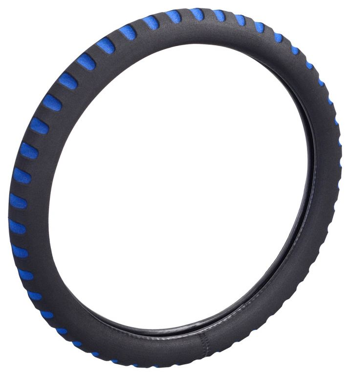 Potah volantu SOFT - modrý/černý
