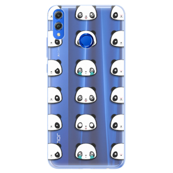 Silikonové pouzdro iSaprio - Panda pattern 01 - Huawei Honor 8X