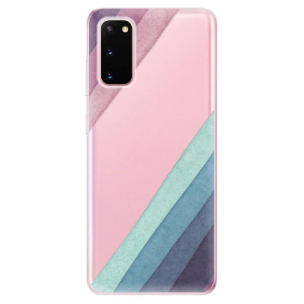 Odolné silikonové pouzdro iSaprio - Glitter Stripes 01 - Samsung Galaxy S20