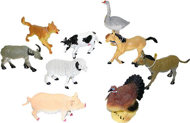 Zvířata domácí (Farma) 14 - 17 cm Figurky zvířátek - 9 druhů