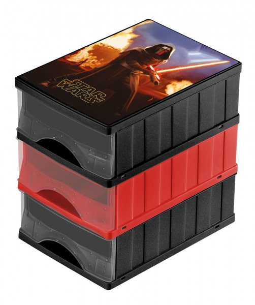 Boxy na hračky - sada 3 šuplíků STAR WARS