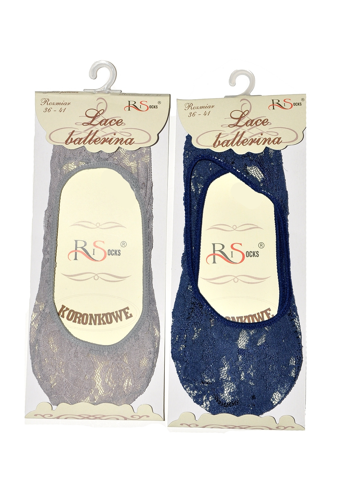 Dámské ponožky baleríny RiSocks 2686 Krajka