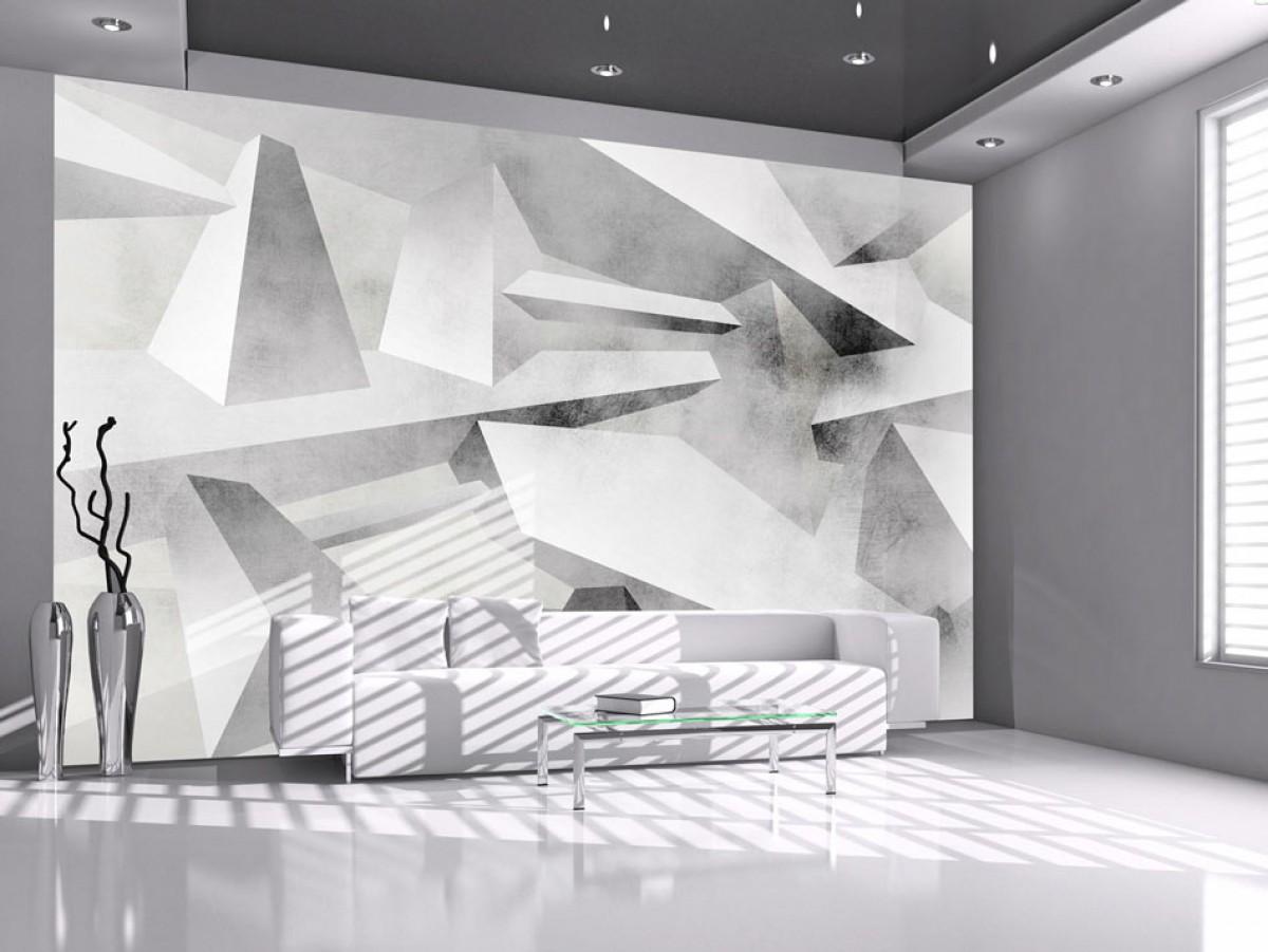3D abstraktní tapeta šedá