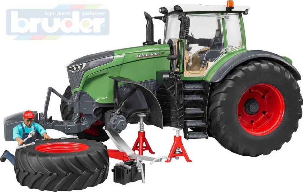 BRUDER 04041 Traktor Fendt Vario 1050 set s figurkou a nářadím 1:16 plast