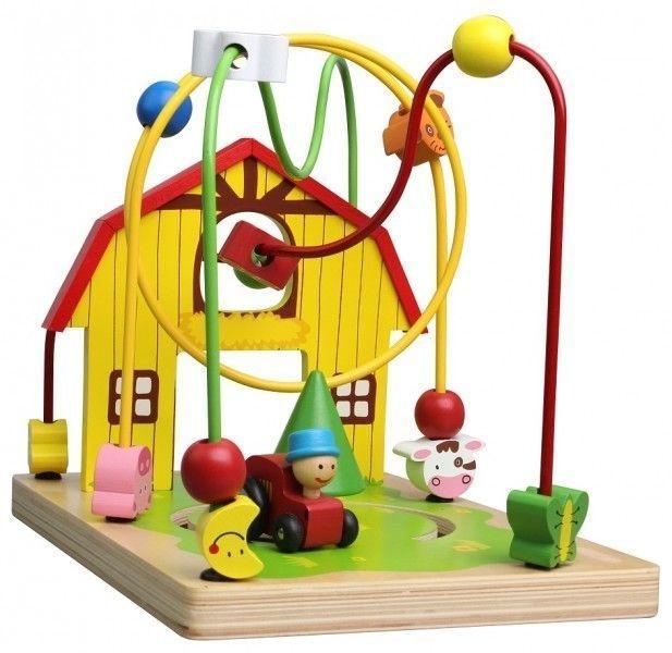 lelin-edukacni-drevena-hracka-labyrint-25-5-cm-farma