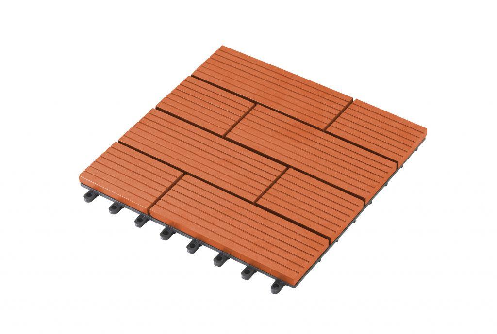 G21 WPC dlaždice - 23 x 300 x 300 mm, samoa třešeň