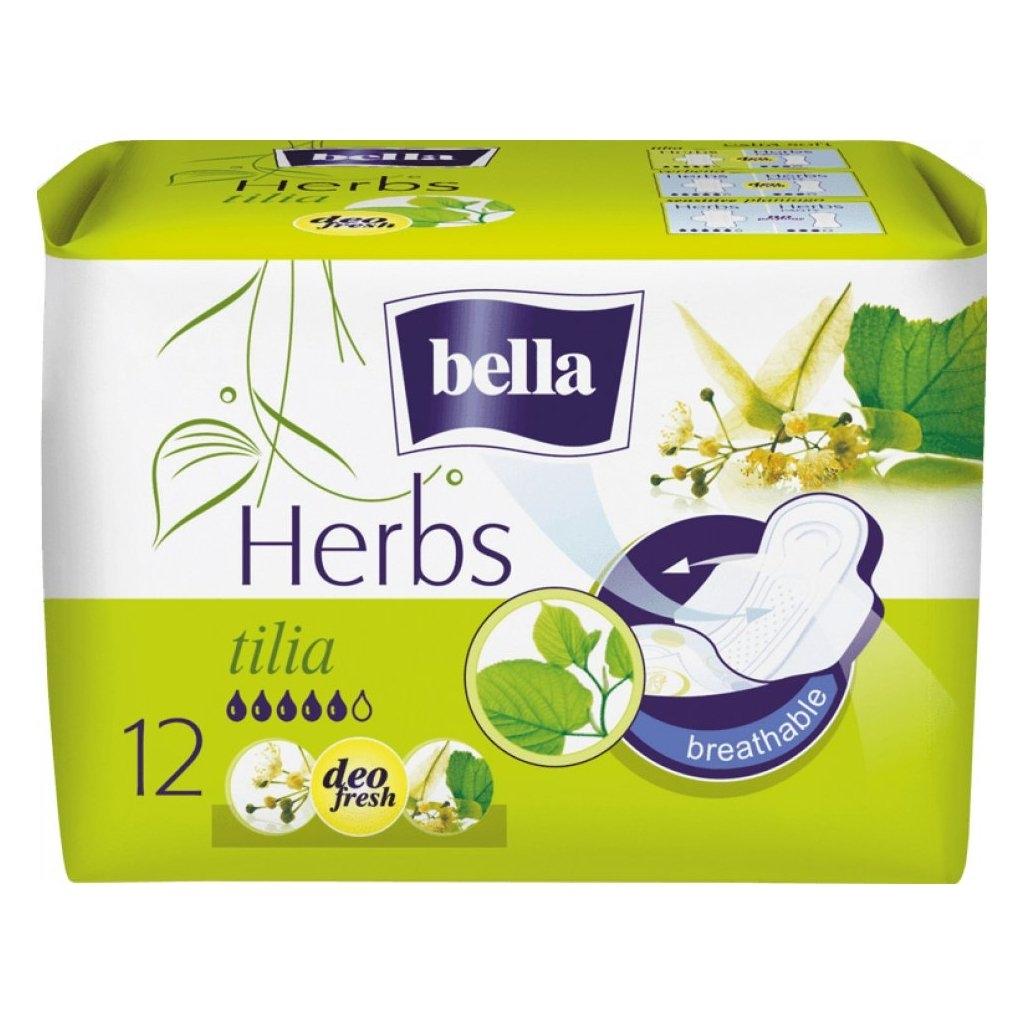 Herbs Tilia hygienické prodyšné vložky s křidélky a jemnou vůní 12 ks/bal.