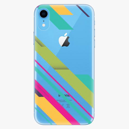 Silikonové pouzdro iSaprio - Color Stripes 03 - iPhone XR