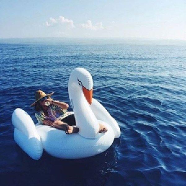 Nafukovací lehátko obří - Bílá labuť