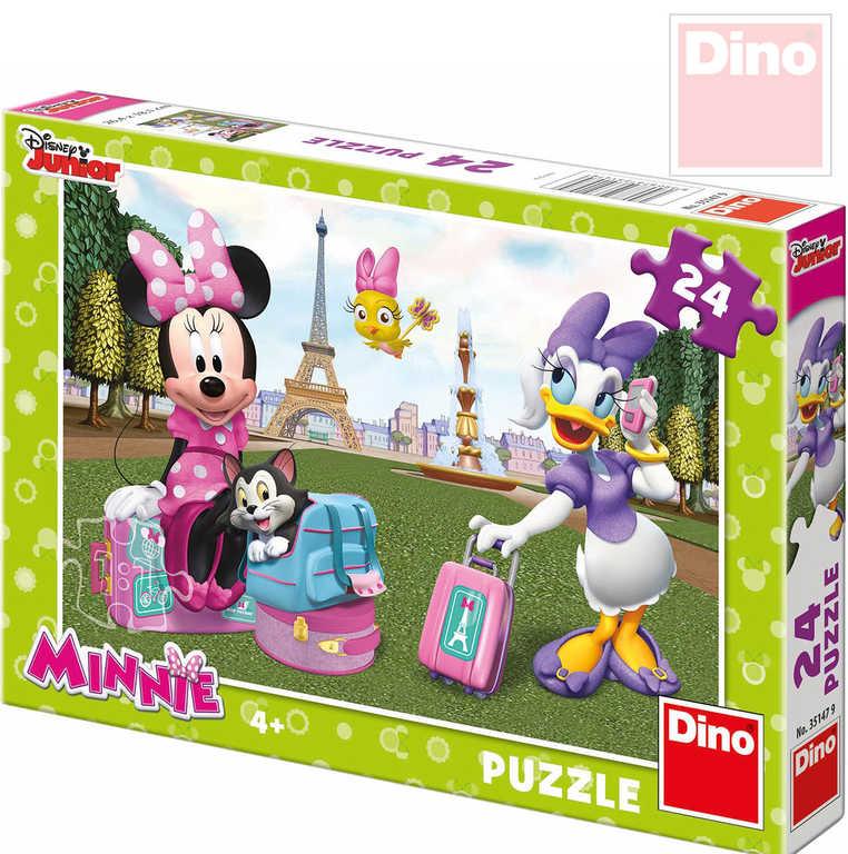 DINO Hra Puzzle Disney Minnie v Paříži 24 XXL dílků v krabici