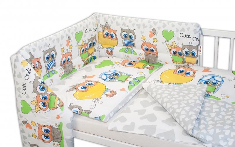 baby-nellys-3-dilna-sada-mantinel-s-povlecenim-135x100-cute-owls-seda-135x100
