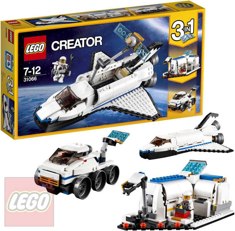 LEGO CREATOR Vesmírný průzkumný reketoplán 3v1 31066 STAVEBNICE