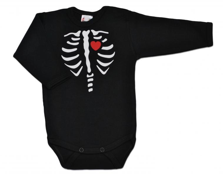 baby-dejna-body-dlouhy-rukav-red-heart-cerne-86-12-18m