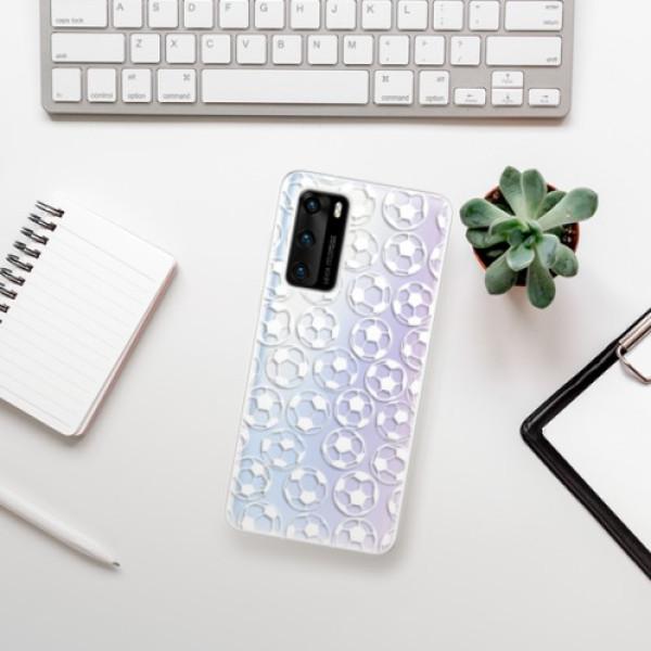 Odolné silikonové pouzdro iSaprio - Football pattern - white - Huawei P40
