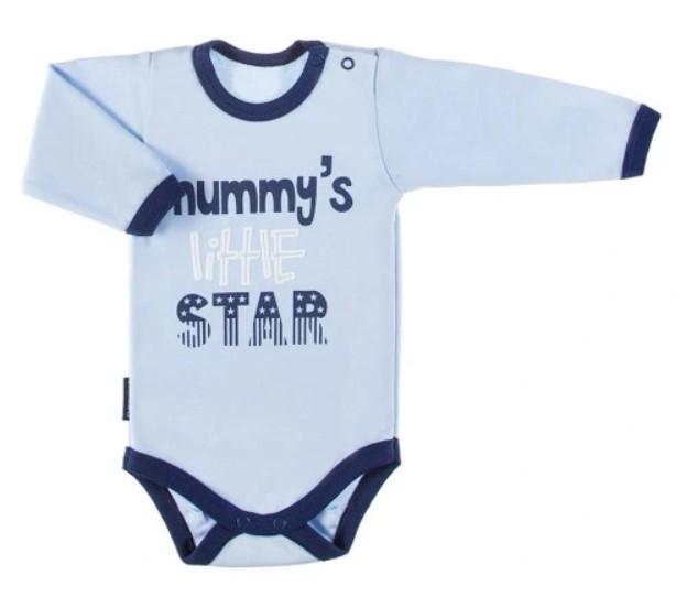 eevi-kojenecke-body-dl-rukav-zapinani-u-krku-mummy-s-little-star-modre-vel-74-74-6-9m