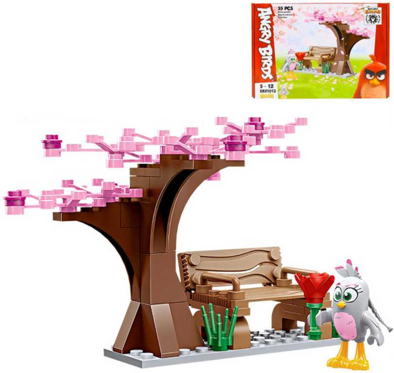 EDUKIE Angry Birds strom a lavička set 55 dílků + figurka STAVEBNICE