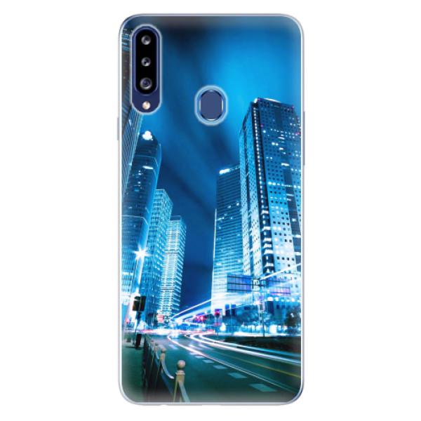 Odolné silikonové pouzdro iSaprio - Night City Blue - Samsung Galaxy A20s