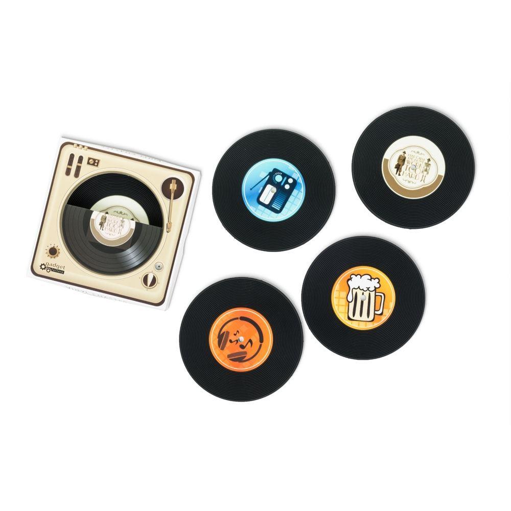 Retro vinylové podtácky