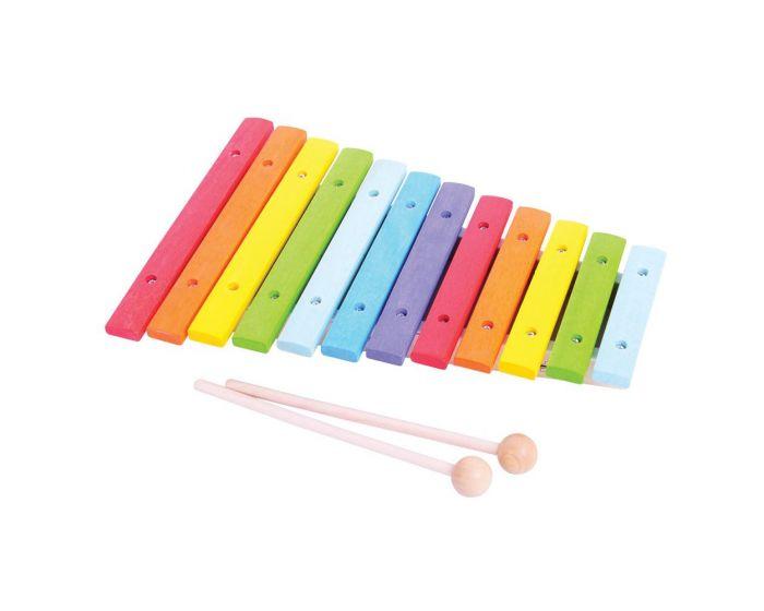 Bigjigs Toys Dřevěný xylofon - poškozený obal