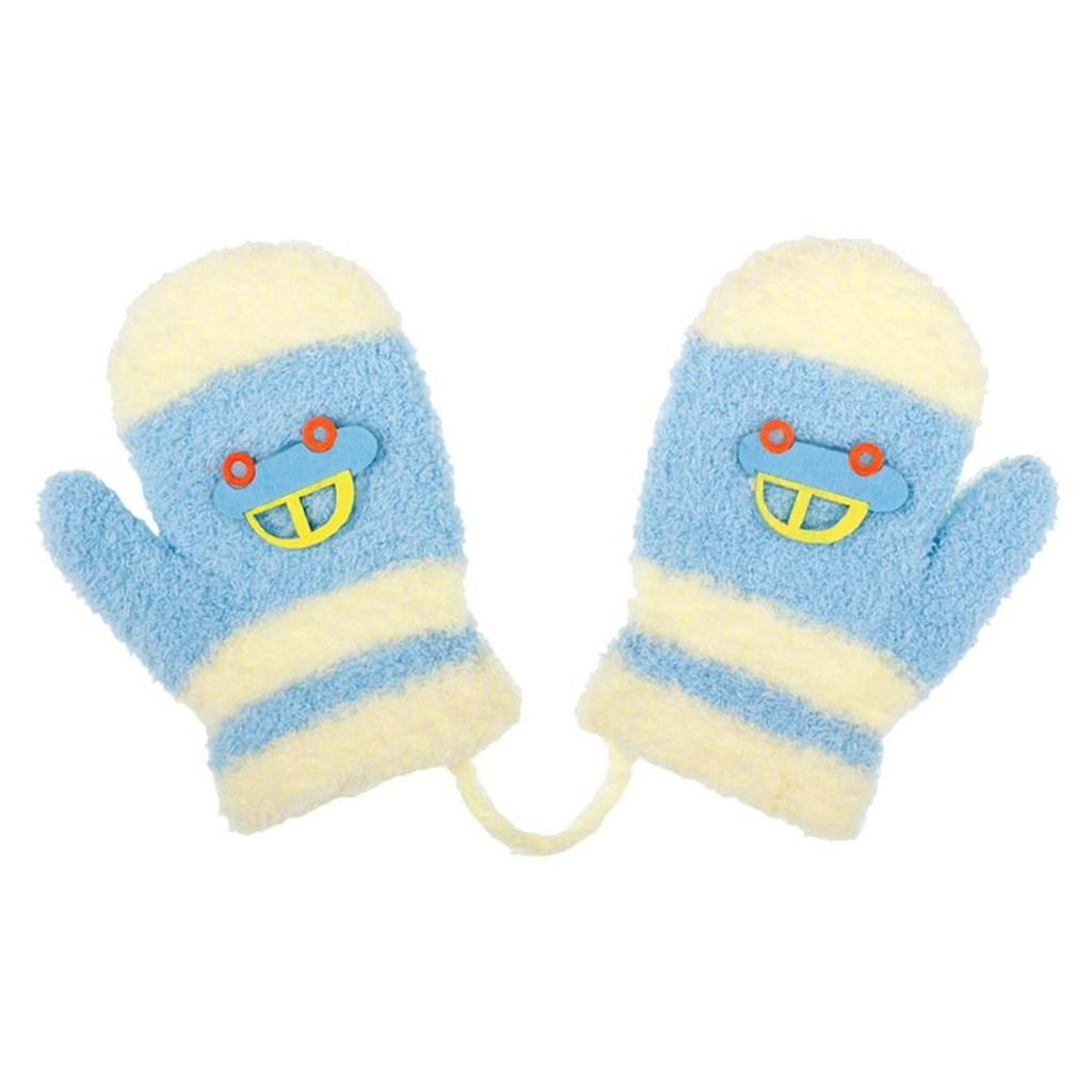 - Dětské zimní rukavičky New Baby s autem světle - modrá/80 (9-12m)