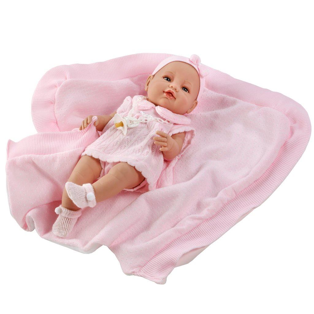 Luxusní dětská panenka-miminko Berbesa Ema 39cm - růžová