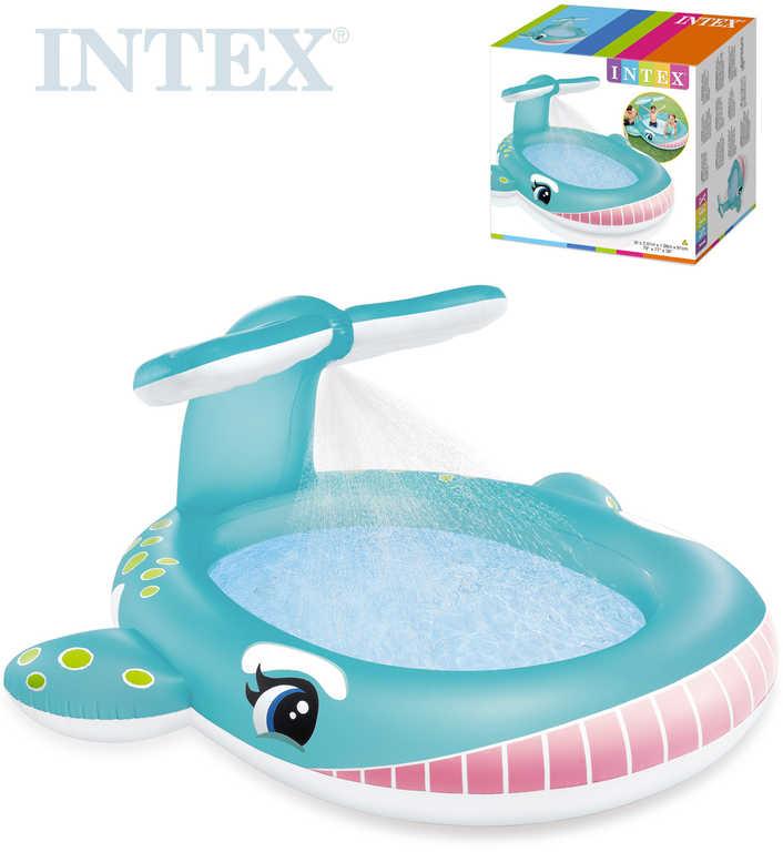 INTEX Baby bazének se sprchou velryba nafukovací brouzdaliště 57440